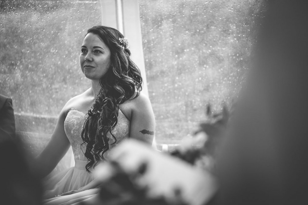 Bride in ceremony