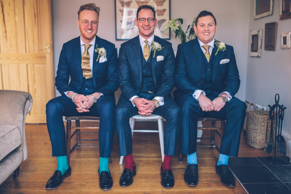 Groom and groomsmen colourful socks