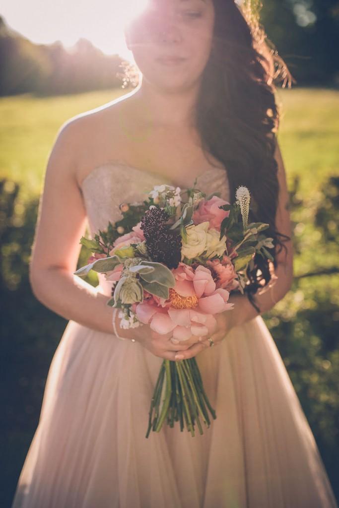 Bride portrait with boquet