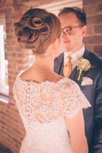 Bride hair detail