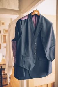Groom's attire hanging up