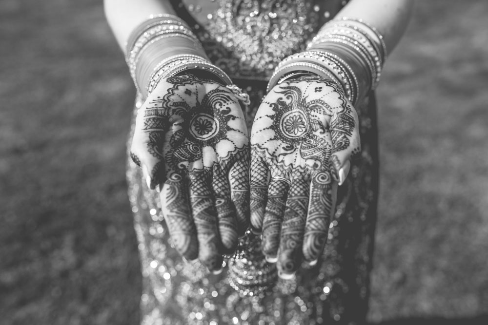 Mehndi hands Indian wedding