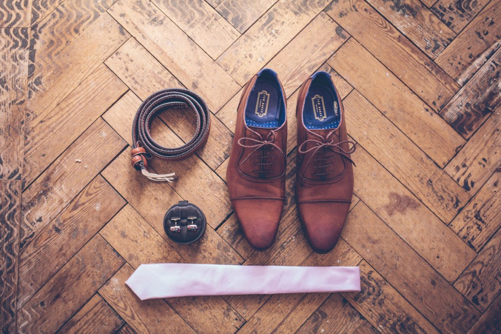 Groom shoes and accessories still life