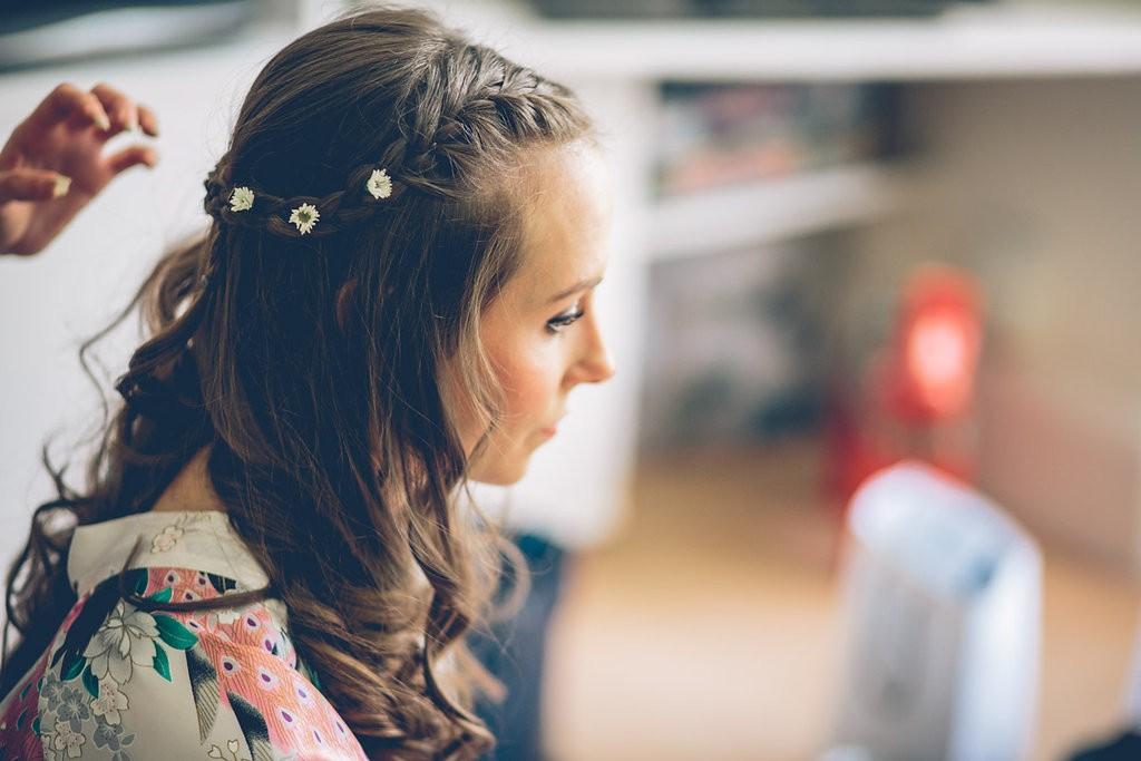 Bride's hair detail