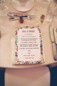 Wedding breakfast place setting