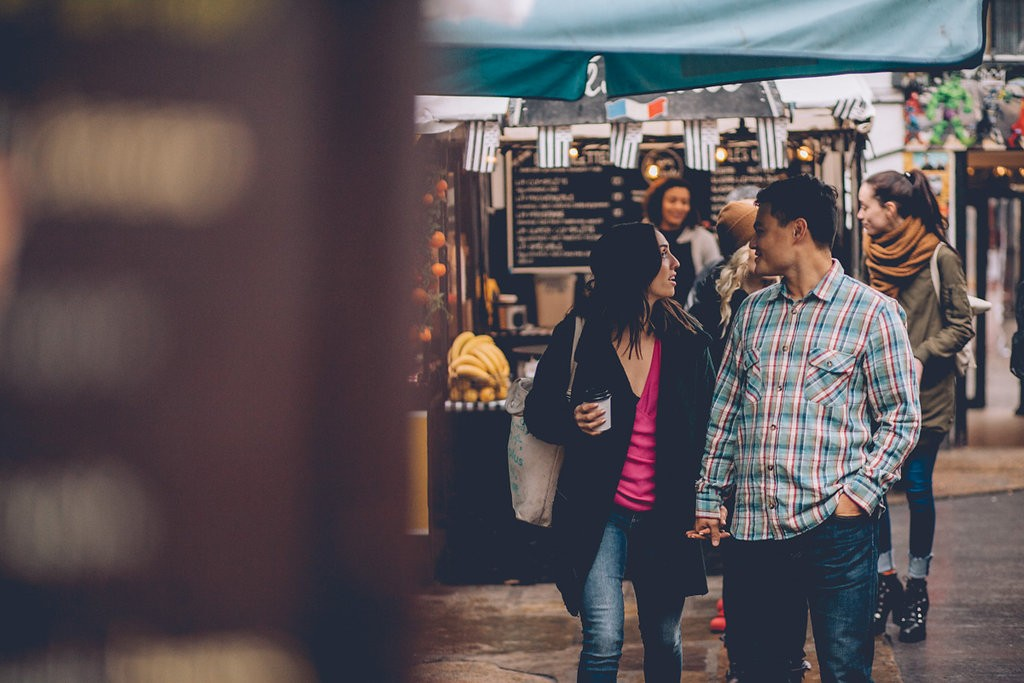 Engagement shoot camden market