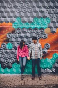 Engagement shoot grafitti