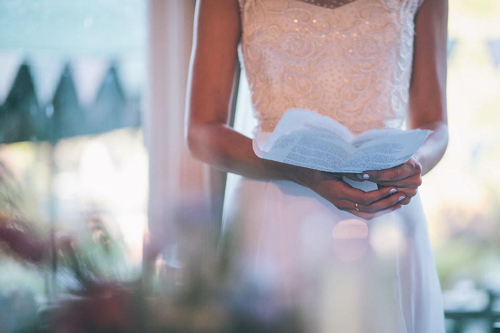Bride giving speech