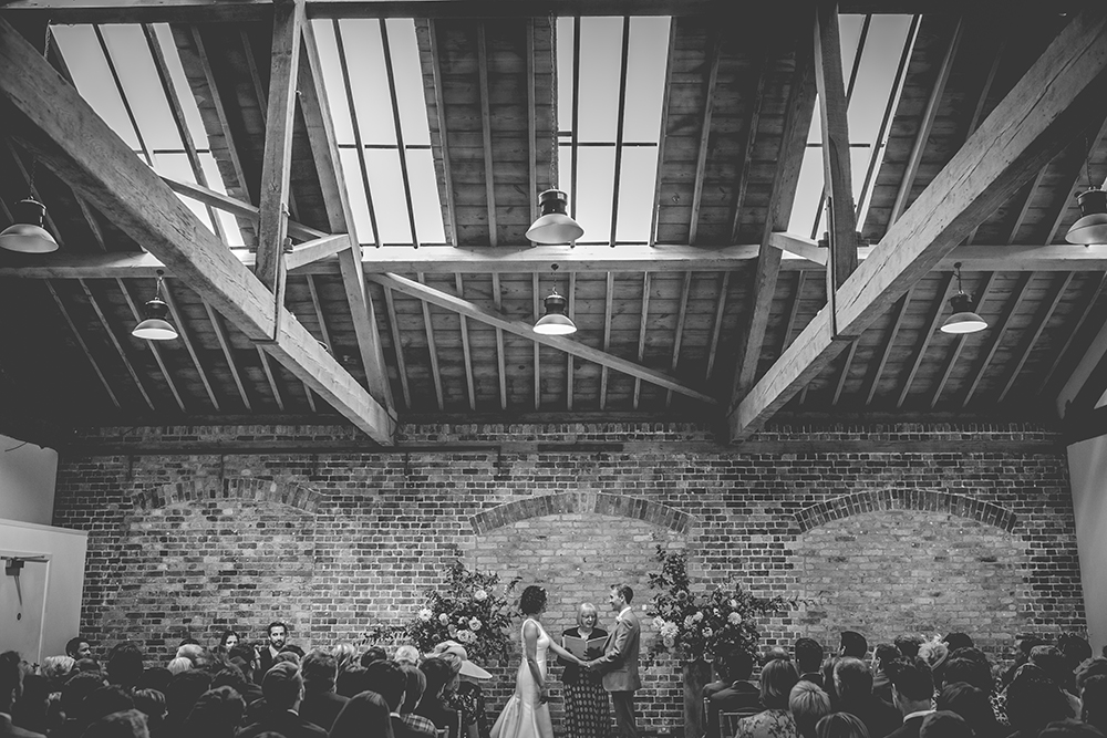 ceremony trinity buoy wharf urban wedding