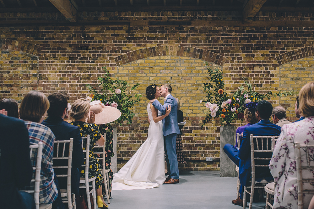 kiss trinity buoy wharf urban wedding