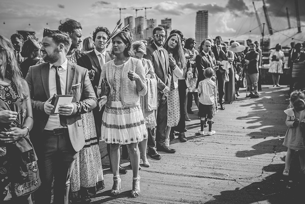 confetti line trinity buoy wharf urban wedding
