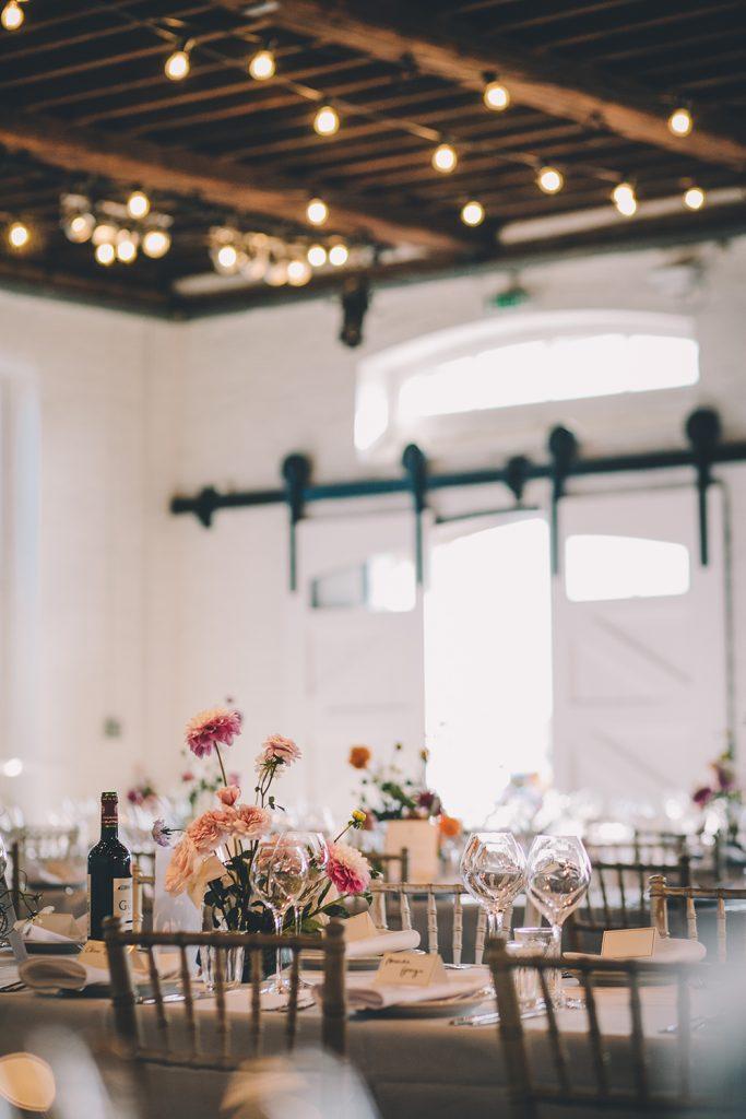 tables trinity buoy wharf urban wedding