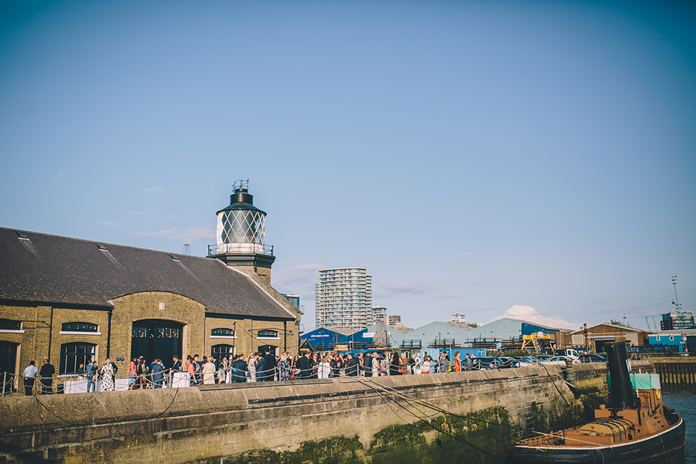trinity buoy wharf urban wedding