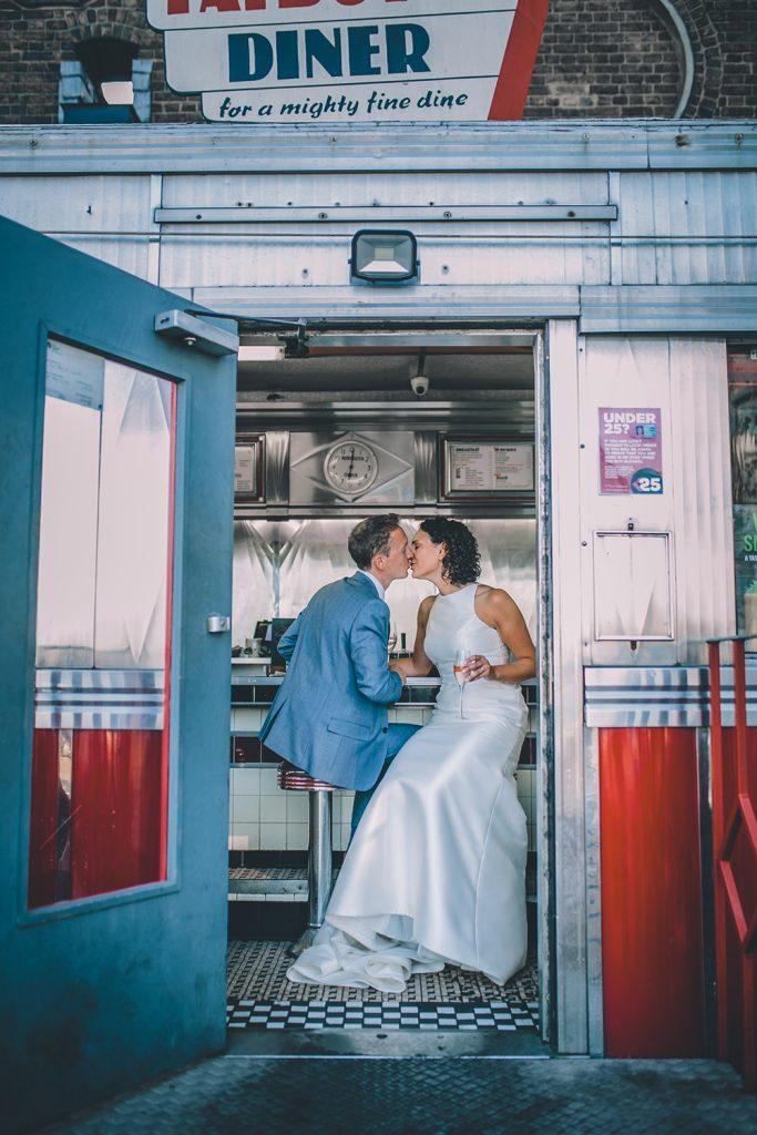portrait trinity buoy wharf urban wedding