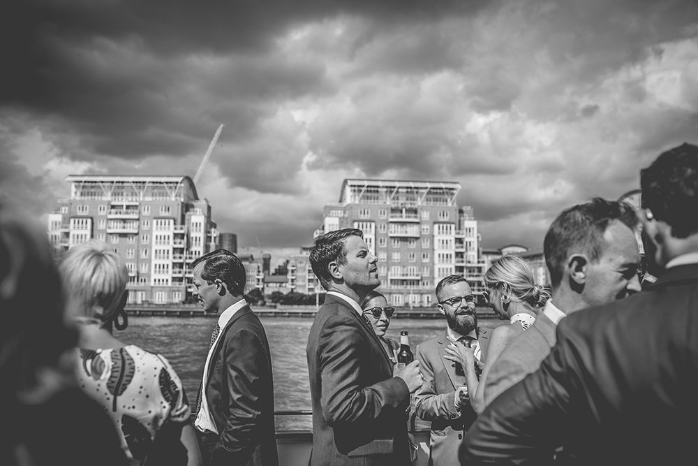 guests trinity buoy wharf urban wedding