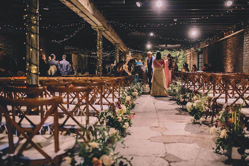 ceremony trinity buoy wharf indian wedding