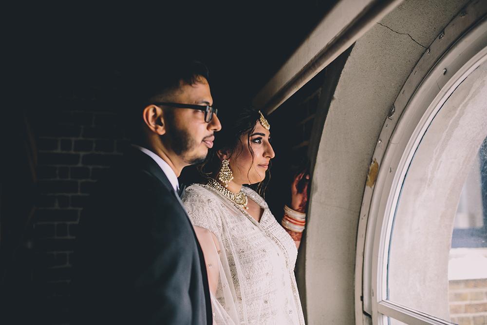 portrait trinity buoy wharf indian wedding