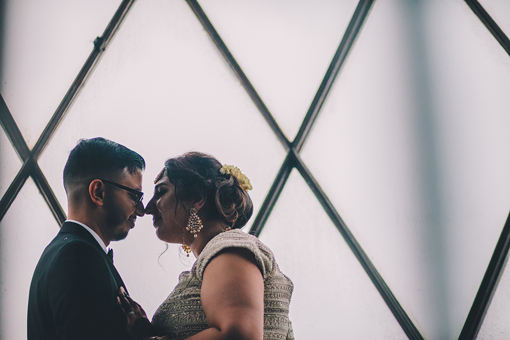 portrait trinity buoy wharf indian wedding