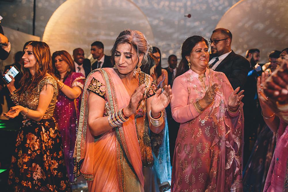 dancing trinity buoy wharf indian wedding