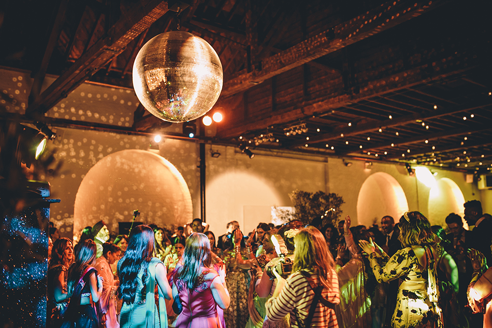 dancing trinity buoy wharf indian wedding