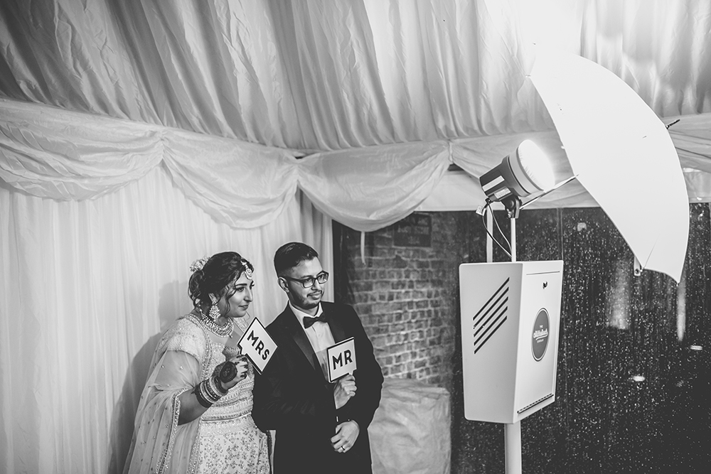 photobooth trinity buoy wharf indian wedding