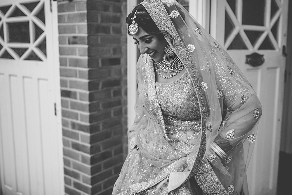 bride trinity buoy wharf indian wedding