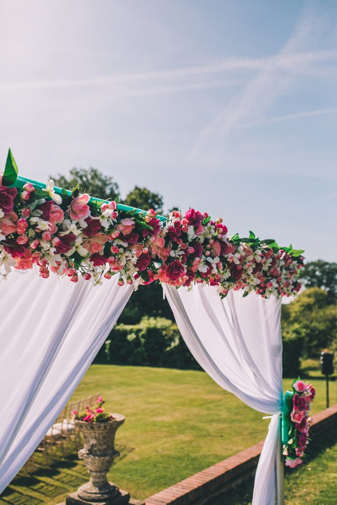 mandap micklefield hall multicultural wedding