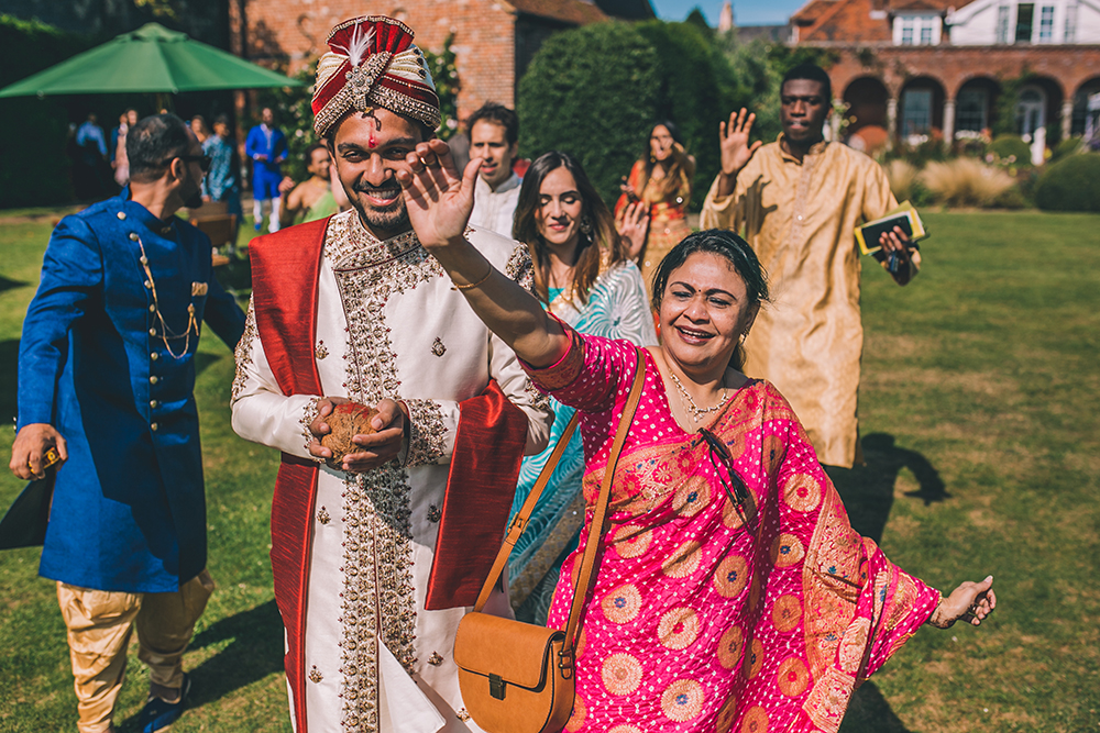 vara yatra micklefield hall multicultural wedding