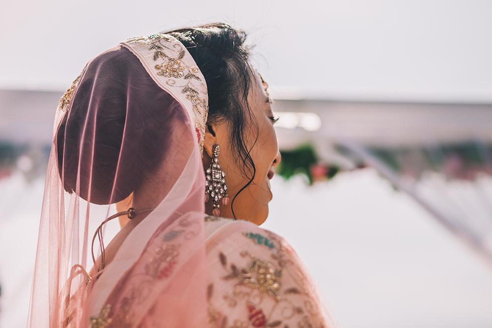 bride indian ceremony micklefield hall multicultural wedding
