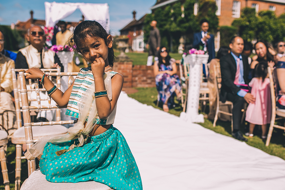 girl guest micklefield hall multicultural wedding