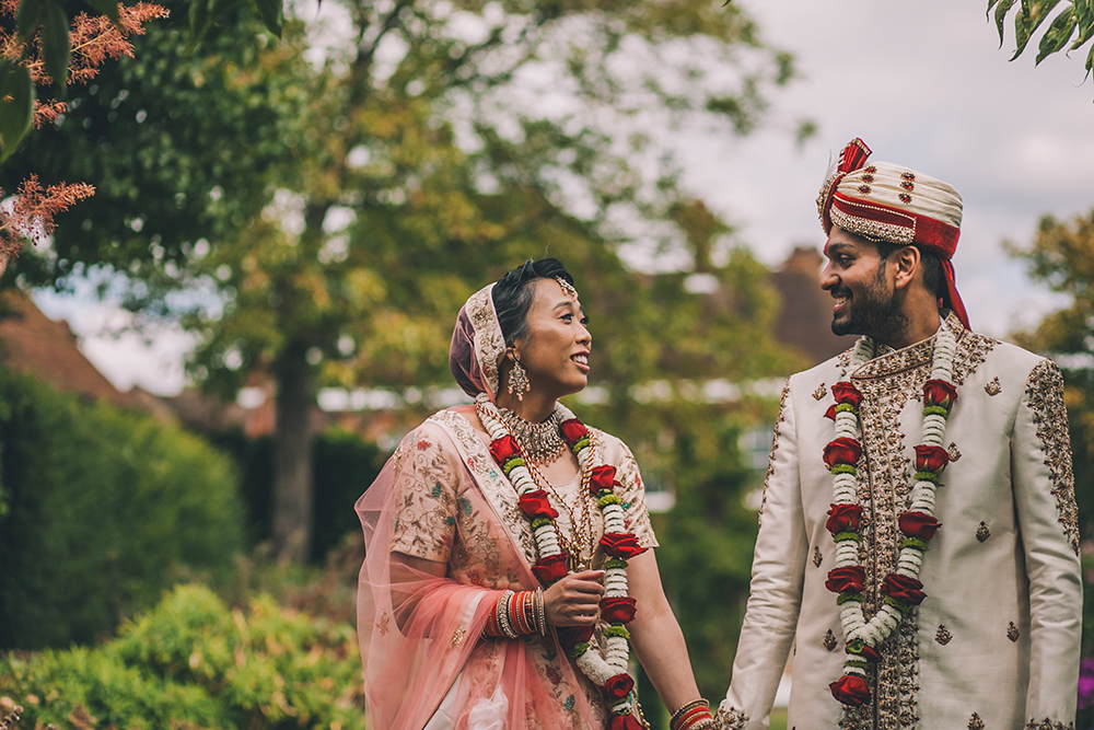portait micklefield hall multicultural wedding