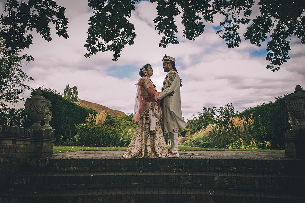 portrait micklefield hall multicultural wedding