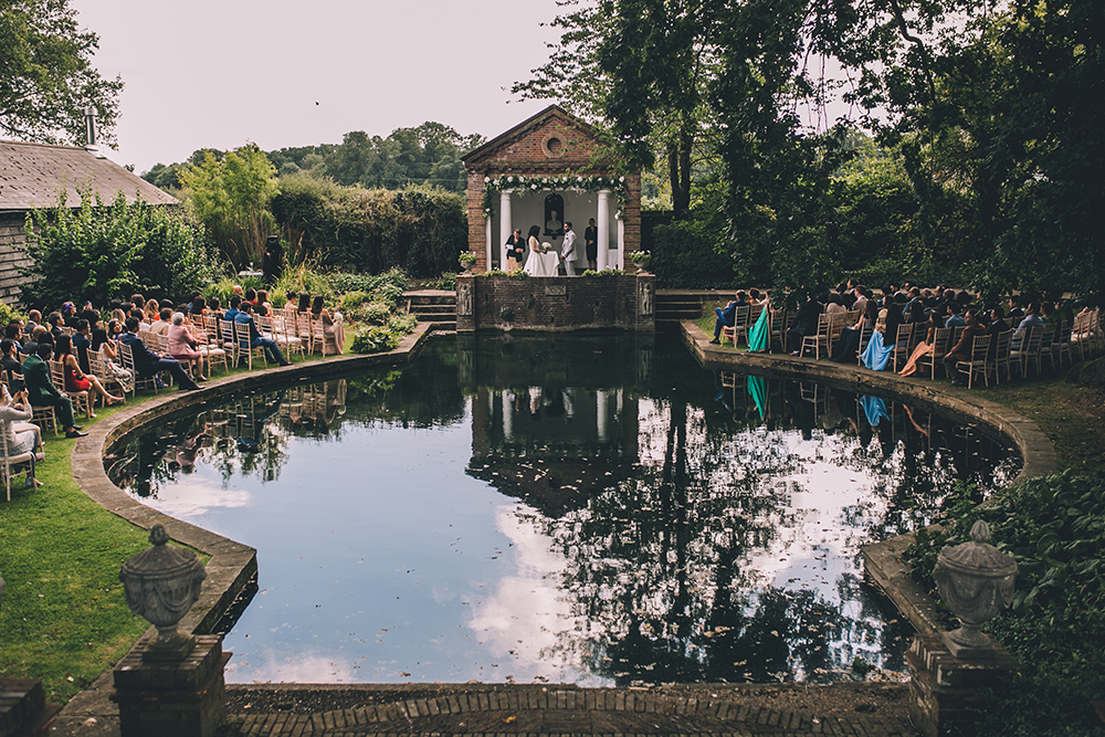 lakeside ceremony micklefield hall multicultural wedding