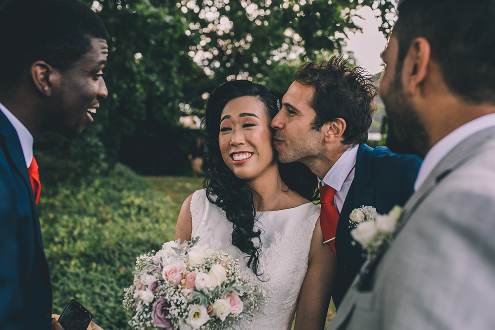best man and bride micklefield hall multicultural wedding