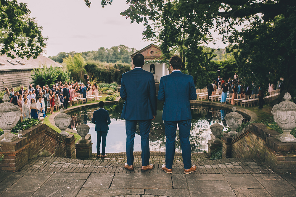 ceremony by lake micklefield hall multicultural wedding