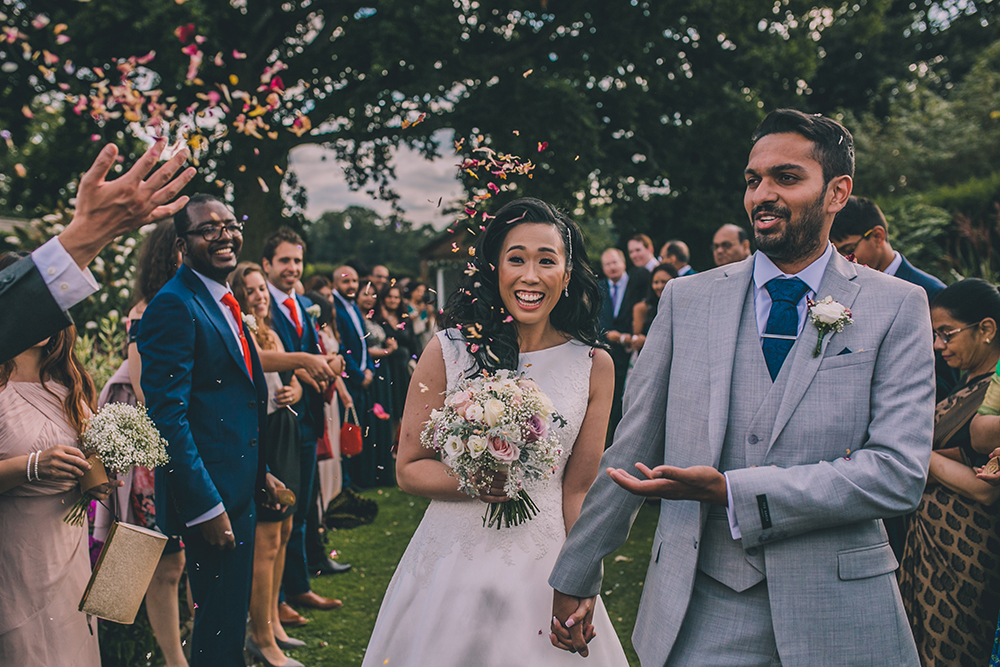 confetti line micklefield hall multicultural wedding