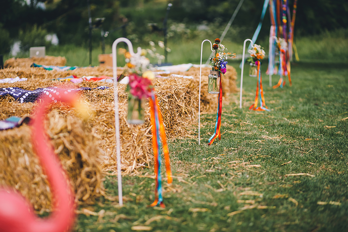 fetival wedding hay bales wedding photography