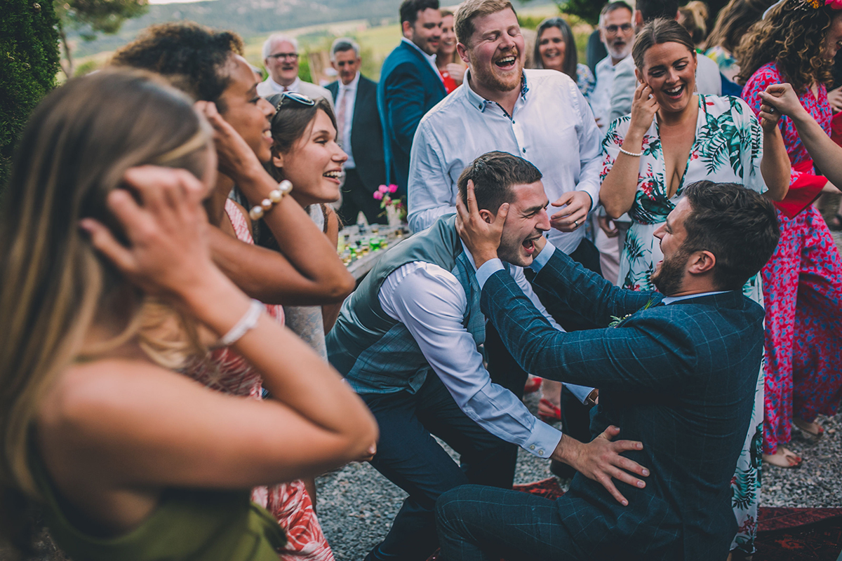 groom and friends wedding photography