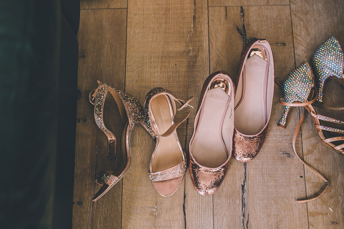 shoe collection wedding photography
