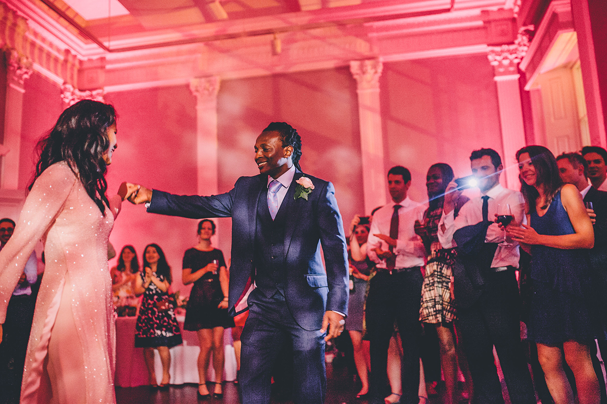 bride and groom dancing wedding photography
