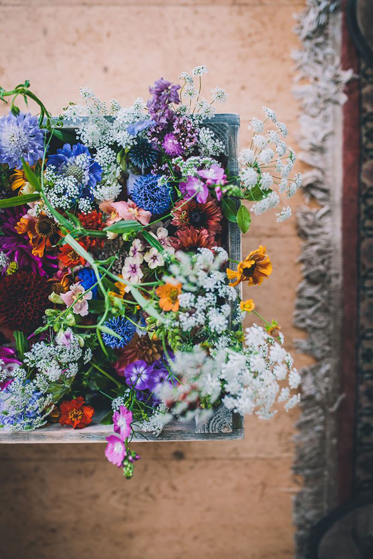 bright floral bouquet wedding photography