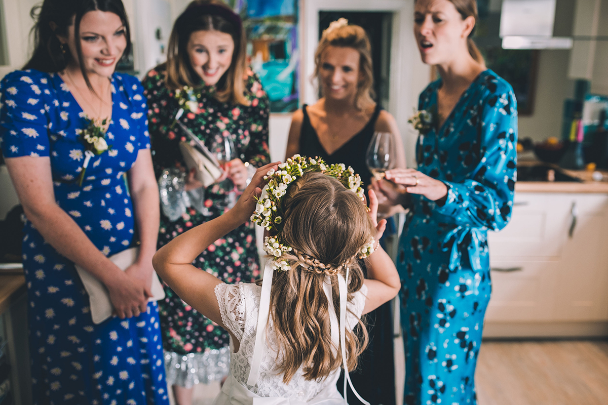 bridesmaids and flowergirl wedding photography