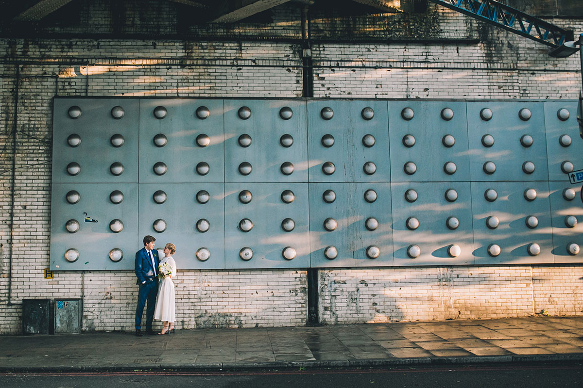 urban couple portrait wedding photography