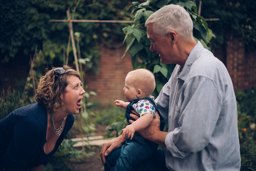 family photoshoot at allotment