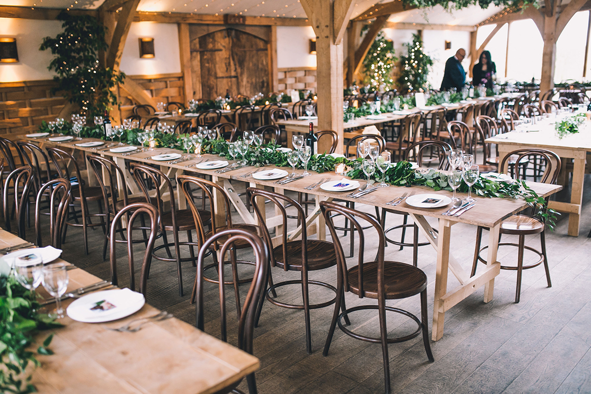 table settings cripps barn wedding photographer