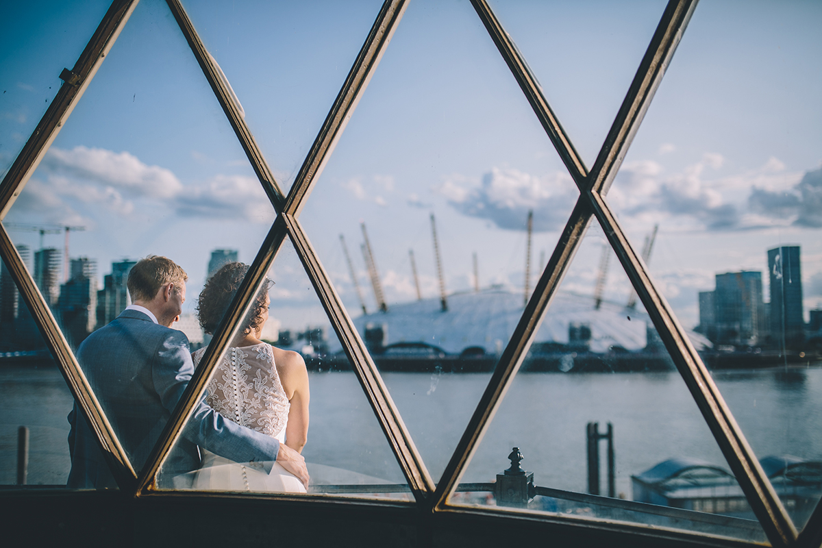 exterior trinity buoy wharf wedding photographer
