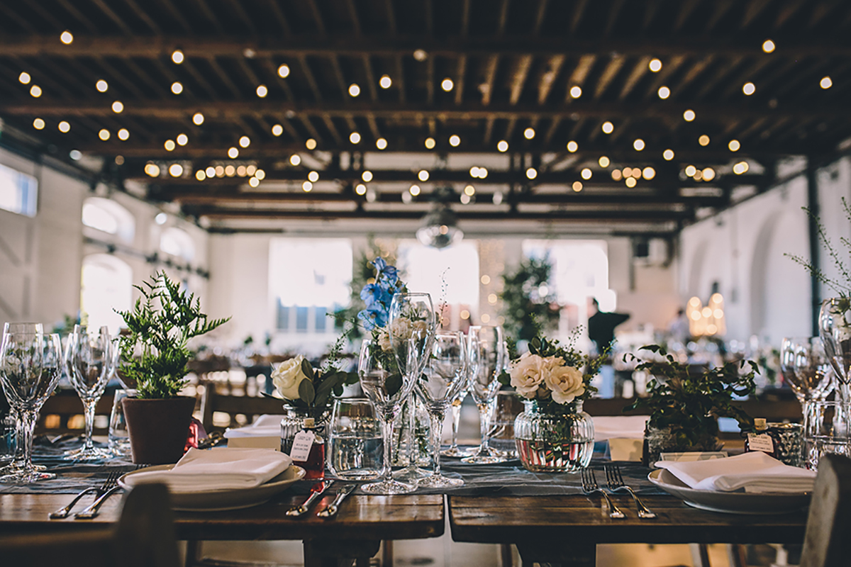 table setting trinity buoy wharf wedding photographer