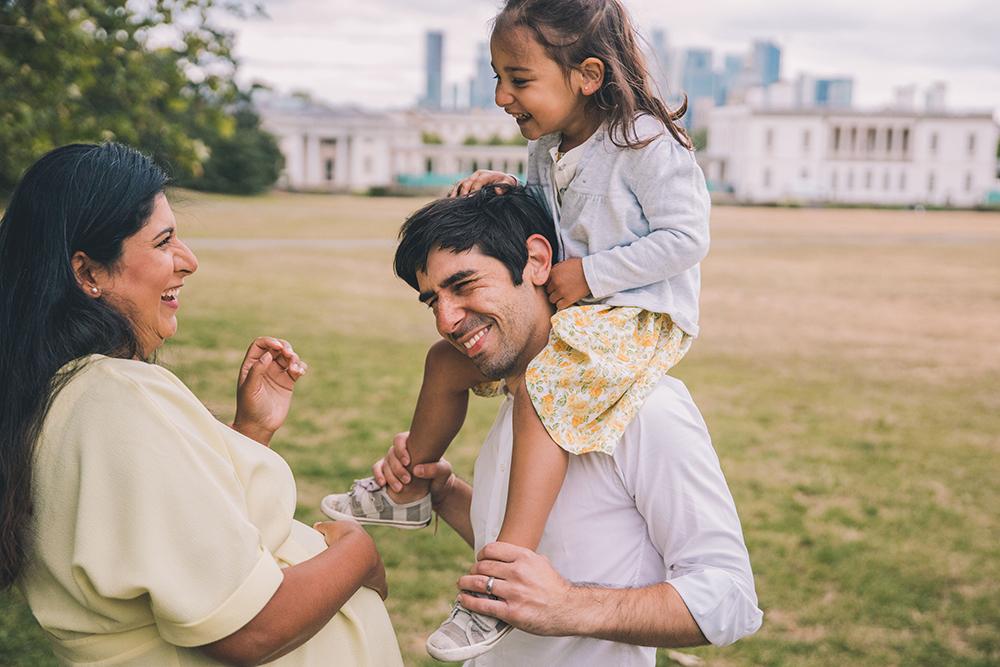 family photoshoot portrait, greenwich london