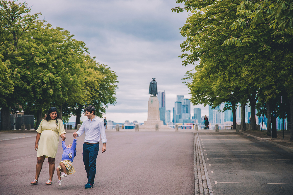 family photoshoot portrait, greenwich london