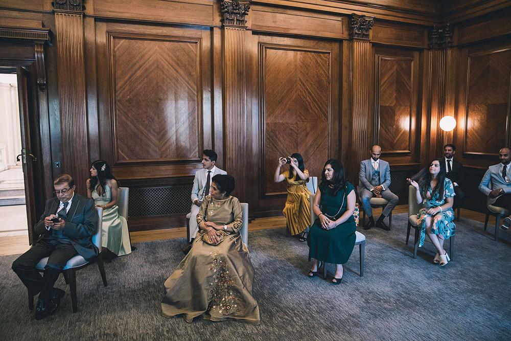 socially distanced ceremony